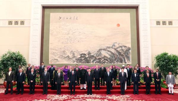 Xi receives credentials of 29 ambassadors