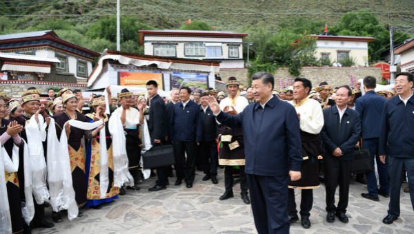Xi inspects Tibet, stressing lasting stability, high-quality development
