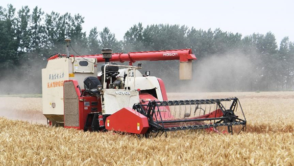 Unmanned agricultural machinery widely used in China