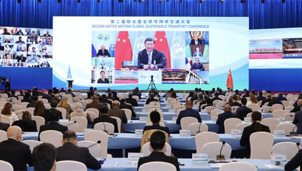 Xi urges global transport cooperation, common development