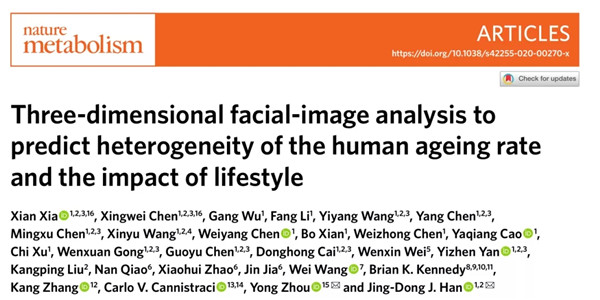 Researchers establish 3D facial image AI models to predict biological age, impact of lifestyle on aging rate