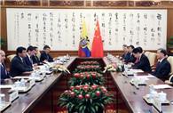 Wang Yang meets Ecuadorian National Assembly president