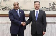 Wang Yang meets Mauritanian president