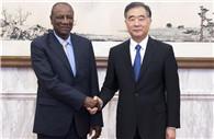 Wang Yang meets Guinean president