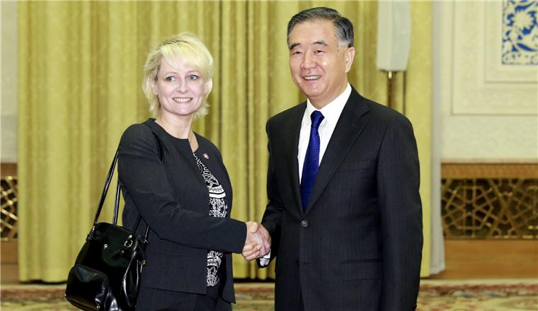 Wang Yang meets Swiss National Council president