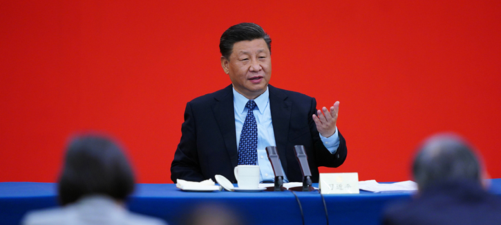 Xi visits CPPCC members, joins discussion at annual session