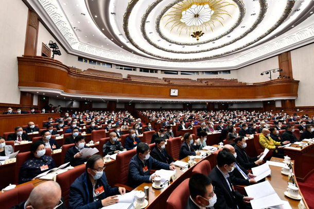 CPPCC members deliver speeches at video conference