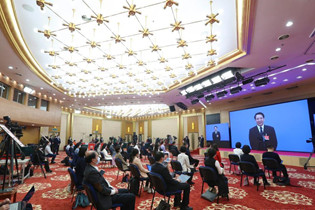 CPPCC members interviewed via video link before closing meeting