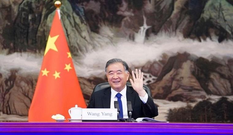 Wang Yang meets with Egyptian Senate speaker via video link