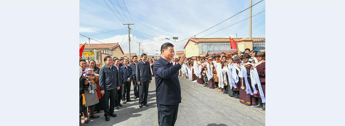 Xi stresses ecological conservation, high-quality development on Qinghai-Tibet Plateau