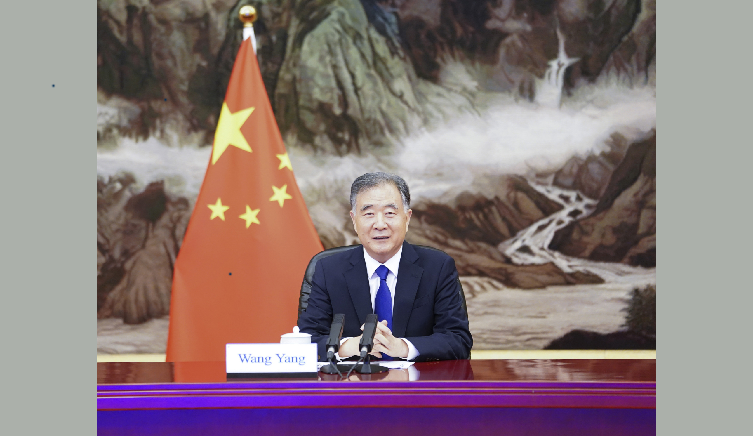 Wang Yang pledges enhanced China-Laos relations