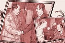 US president Richard Nixon visits China.