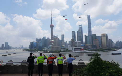 Party flag flies high in Shanghai for centenary