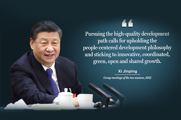 Highlights of Xi's words at group meetings of this year's two sessions