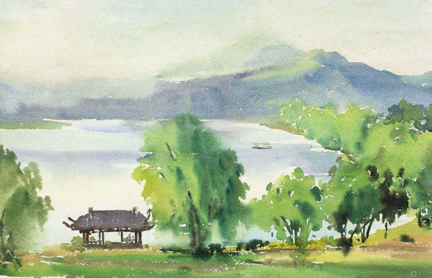 Painters capture beauty of Hangzhou