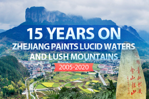 15 years on: Zhejiang paints lucid waters and lush mountains