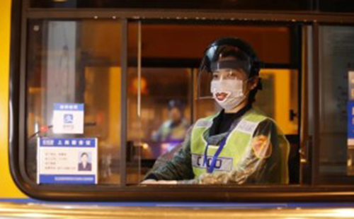 Toll collectors wear 'smiling' masks to convey warmth