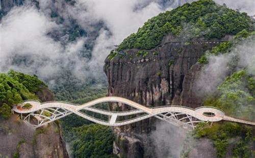 Newly opened bridge in Shenxianju
