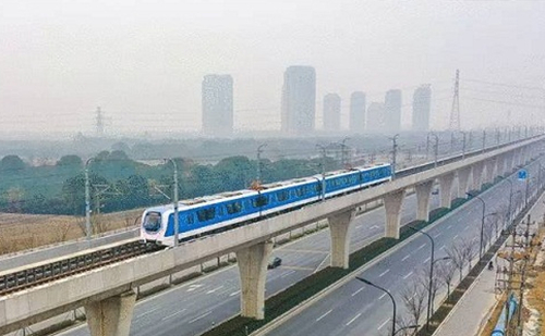 Hangzhou-Haining train starts trial run