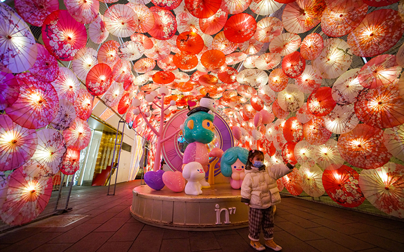 Lanterns light up festive atmosphere in China