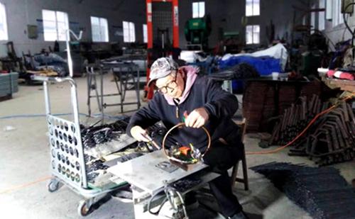 72-year-old carpenter creates artworks using waste