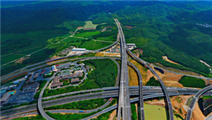 Shaoxing section of the Hangzhou-Shaoxing-Taizhou Expressway in Zhejiang province