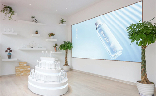 Premium Lishui mineral water opens brand image store