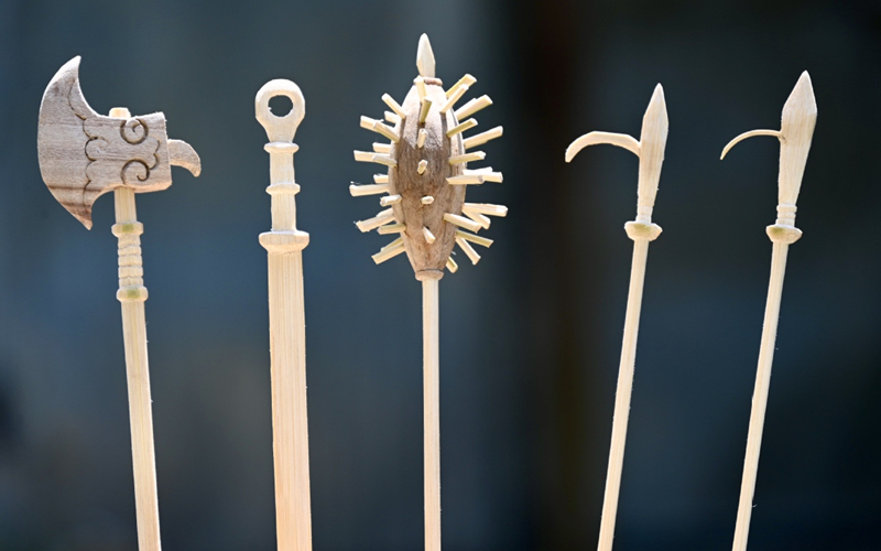 Wooden weapons become a cottage industry