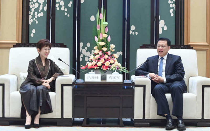 Zhejiang Party chief meets with former KMT leader