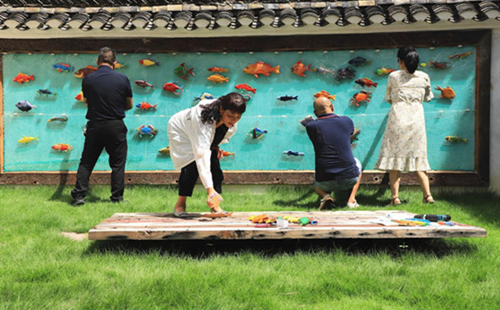 Ancient fishing village revitalized using art