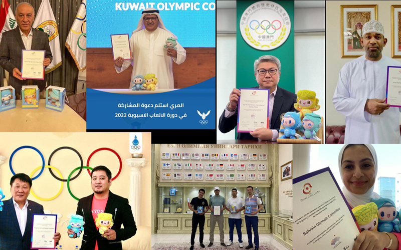 Olympic committees express their intentions of competing
