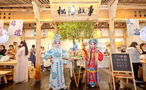 Songyang acts to inherit, pass on traditional opera culture