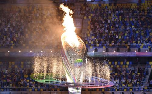 Yang Qian serves as torchbearer at National Games