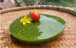 Enjoy green tofu in summer