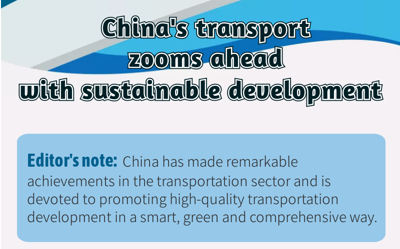 China's transport zooms ahead with sustainable development
