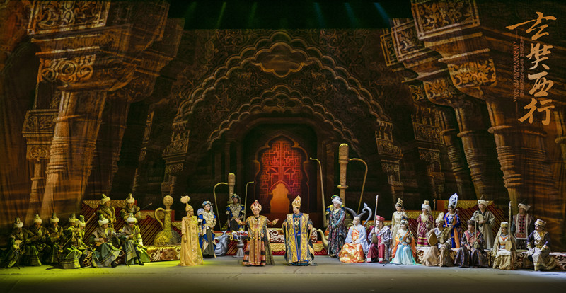 A Chinese concert in drama Xuanzang's Pilgrimage to open in Dunhuang.jpg