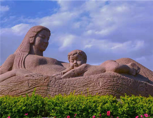 """The statue """"Yellow River — The Mother"""""""