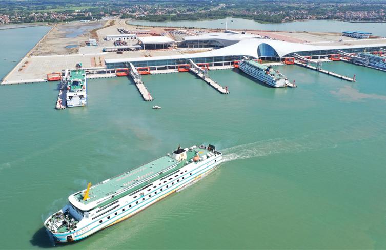 Largest roll-on, roll-off passenger harbor begins operation