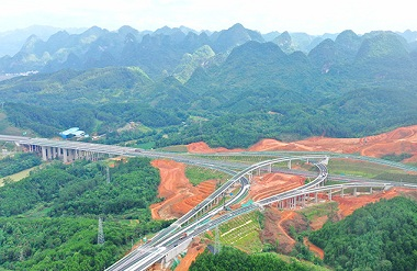 Hezhou-Bama Expressway to open to traffic by July