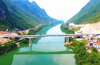 Hechi Bafu Bridge passes completion acceptance