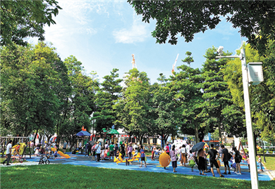 Upgraded Huangpu Park reopens to public
