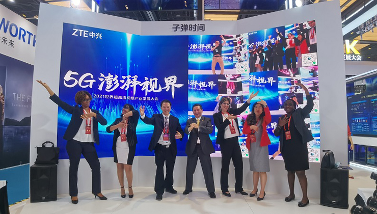 Foreign envoys in Guangzhou participate in world UHD video conference