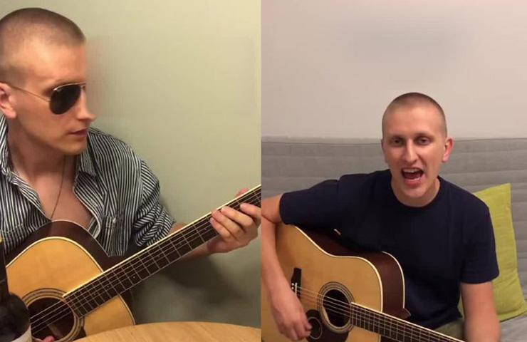 Russian goes viral via original songs during quarantine in Liwan