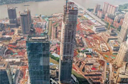 Highest building in Guangzhou financial city capped