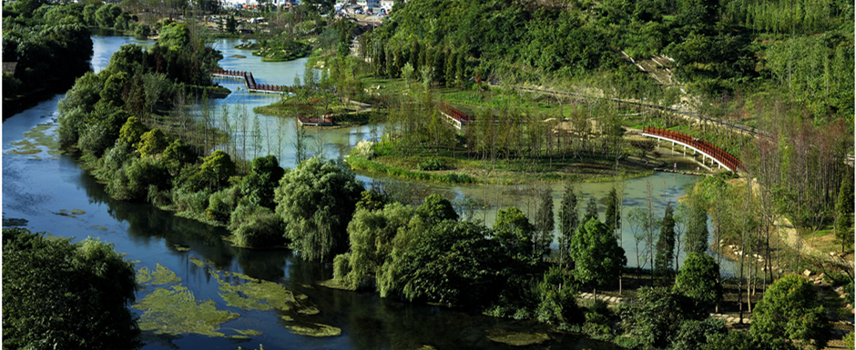 Enjoy beautiful scenery of Huaxi National Urban Wetland Park