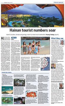 Hainan tourist numbers soar