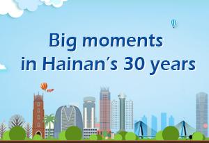 Big moments in Hainan's 30 years