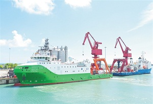 Vessel to boost Hainan FTZ construction, deep-sea industry