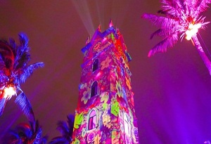 Light show at Haikou Clock Tower appeals to visitors