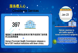 Hainan's fight against novel coronavirus - considerate services and support policies